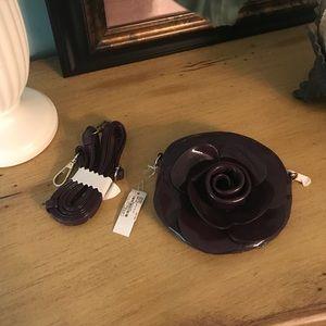 Purple rose purse Charming Charlie's NWT